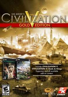 [Steam] CIV V GOLD + Brave New World [Online Game Code] für 14,57 € @ Amazon.com