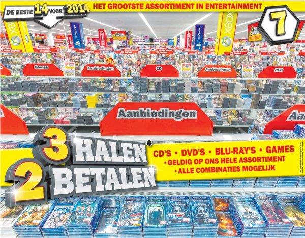 [MM Niederlande Landesweit] 3 für 2 aus dem Bereich Games/DVDs/BD/CDs