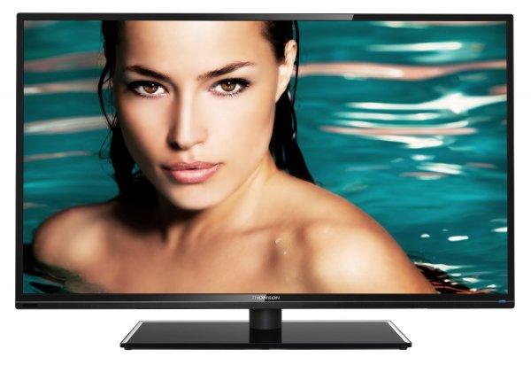 Thomson 48FU4243C/G 122 cm (48 Zoll) LED-Backlight-Fernseher, EEK A+ (Full HD, 100Hz CMI, DVB-C/T, CI+, 2x HDMI, USB 2.0, Hotelmodus, Glasfuß) schwarz