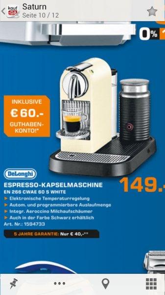 DeLonghiNespresso Citiz & Milk EN 266.CWAE 60's White