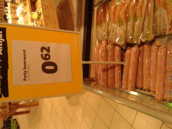 500 Gramm Partyleberwurst @ JUMBO Supermarkt Enschede [lokal?] für 0,62 €
