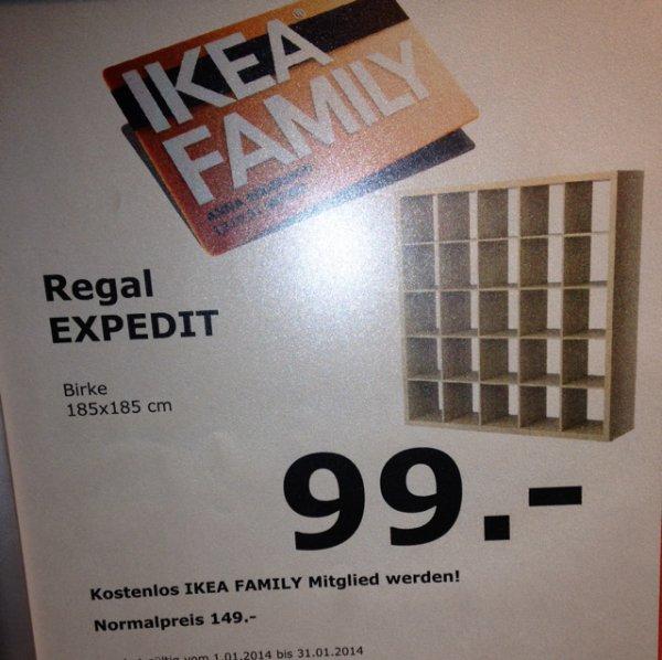 Ikea Dortmund(Lokal) Ikea Dortmund: Expedit Regal 25 Fächer 99€ anstatt 149€ mit Family Card