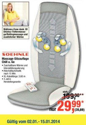 Soehnle Massageauflage Chill & Go 3D (50% unter idealo) @ Metro (Filialen, bundesweit)