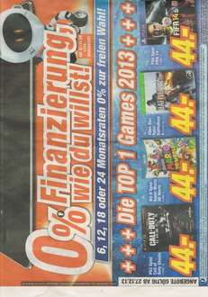 BF 4 (Xbox One) Fifa 14 (PS4) CoD Ghost (Ps3) Super Mario 3d World (WiiU) je 44 € lokal ? Expert Würzburg