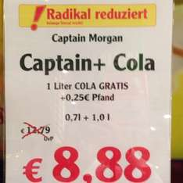 [lokal] Globus Ludwigshafen, Spirituosen Stark Reduziert, Martini, C. Morgan, Razz,...