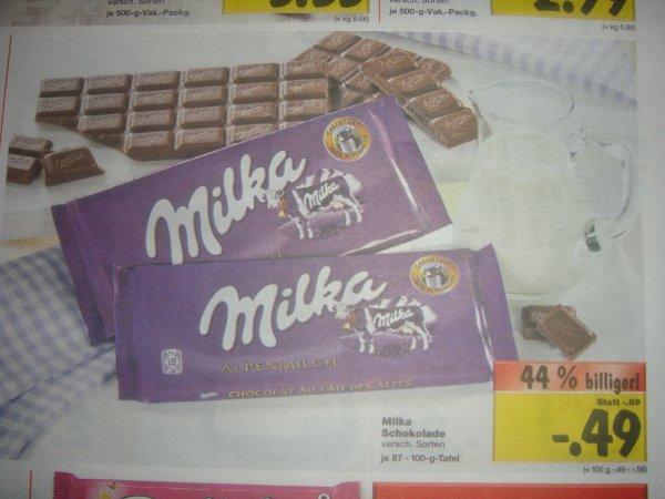 Kaufland [Bundesweit?] Milka Schokolade, 100g Tafel