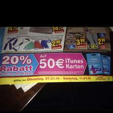Apple iTunes Karten -20% @ Netto