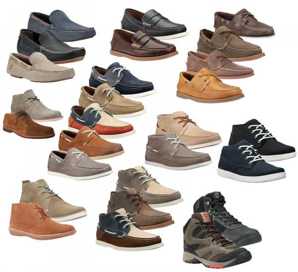 Verschiedene Timberland Leinen und Leder Schuhe für 49,95€ je Paar