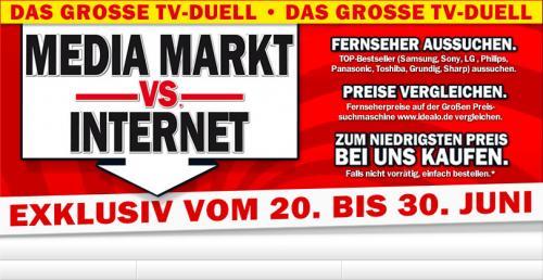 Das große TV-Duell - Media Markt vs. Internet.