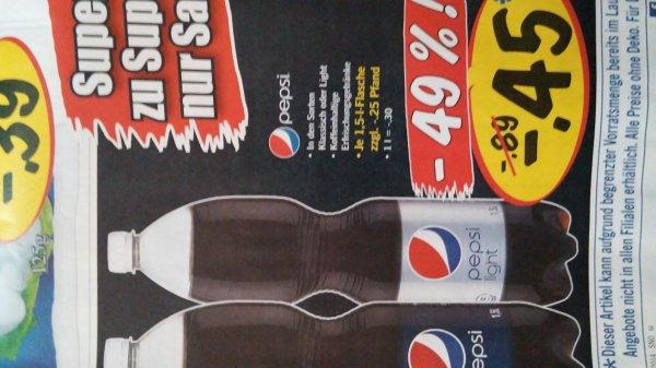 Pepsi 1,5l vers. Sorten @lidl am 11.01.2014 für 0,45€