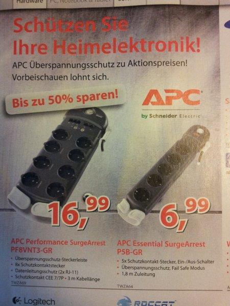[LOKAL] Alternate in Linden - APC Überspannungsschutz / APC SurgeArrest Essential 5-fach (P5B-GR)  ab 6,99 € statt mind. 11,25 €