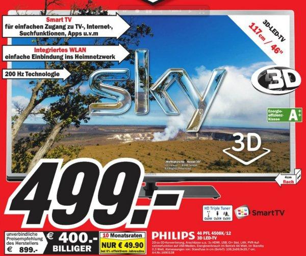 Philips 46PFL4508K für 499€ Lokal [Mediamarkt Braunschweig]