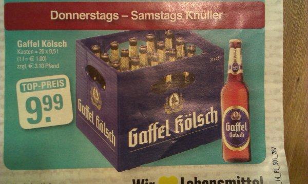 Gaffel Kölsch Kiste für 9.99€
