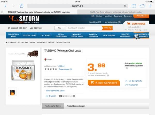 Verschiedene Tassimo Kapseln (8er und 16er Packungen) für 3,99€ inklusive Versand