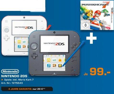 Lokal Saturn Bochum Nintendo 2DS schwarz oder weiß + Mario Kart 7