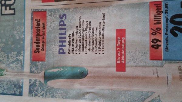 Philips Schall -  Zahnbürste HX3120/00 @ Kaufland BW für 20€