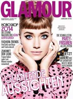 Glamour Zeitschrift @ Leserservice - 13 Monate für effektiv -0,40 € / -0,60 €