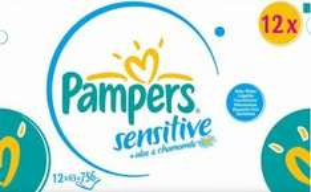Pampers Feuchttücher Sensitive, Vorteilspack Giga, 756 Stück, 11,94€