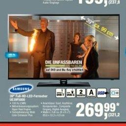 [Offline] Samsung UE39F5000 Full HD LED (Zweit-)TV für 321,29€ (incl Mwst) @ Metro