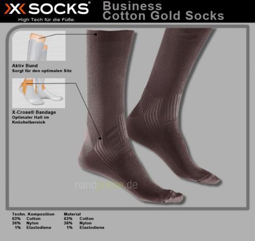 X-Socks 3 Paar Herren Business Socken COTTON GOLD black