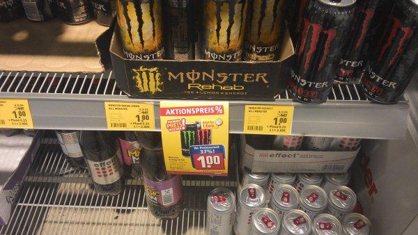 [REWE] Monster Energy versch. Sorten 1€ + 0,25€ Pfand