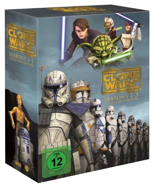 Star Wars: The Clone Wars - Komplettbox Staffel 1-5 (exklusiv bei Amazon.de) [DVD] für 59,97 €