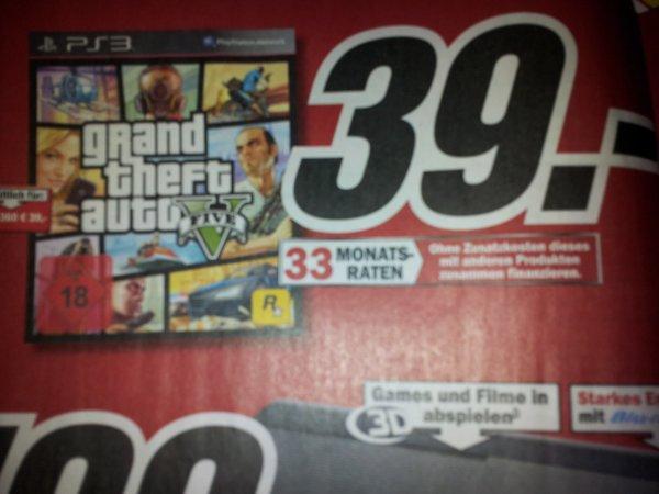 GTA V PS3 und XBOX in Media Markt und Amazon