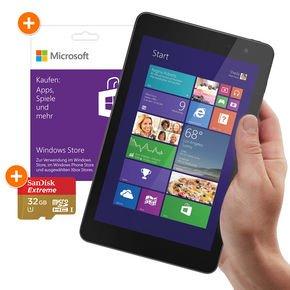 """SuperBundle: Dell Venue 8 Pro (mit """"echten"""" Win8.1!) + 32 GB Speicherkarte + 25 € Microsoft Guthabenkarte = 229€ statt ueber 300€.."""