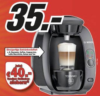 @Mediamarkt (lokal) 78224 Singen und online TAS 2002 Getränkeautomat für 35€ inklusive 40€ Kapselgutschein!