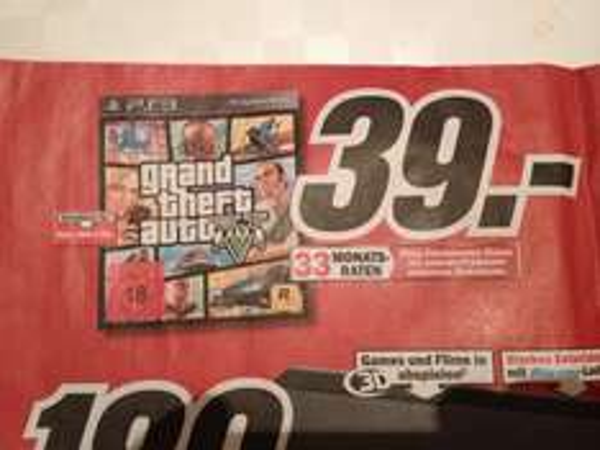 [Lokal] GTA 5 für PS3 & Xbox 360 im Media Markt Straubing
