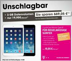 [Bestandskunden] Telekom Combi Card mobile Data M inkl. iPad mini Retina cellular 79€