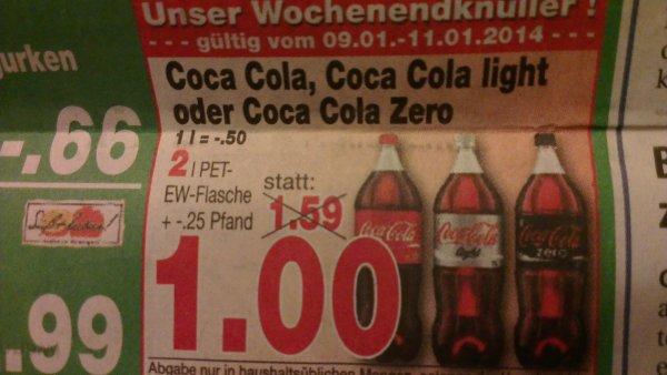 Coca Cola 2L 1€  Kaufpark