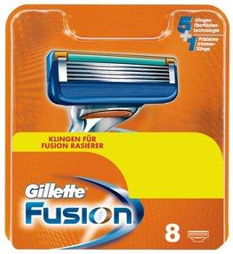 Gillette Fusion manuell Rasierklingen 8 Stück für 17,99 €