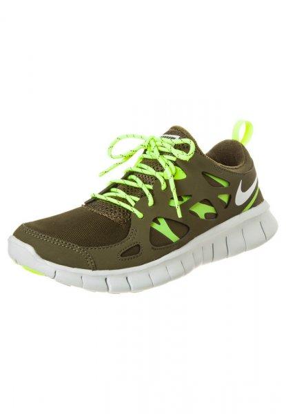 Nike Free Run 2.0 (dark loden/neutral grey/volt) für Frauen und Kinder