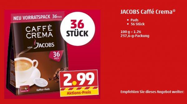 JACOBS Caffé Crema Pads 36 Stück für 2,99 € bei Penny