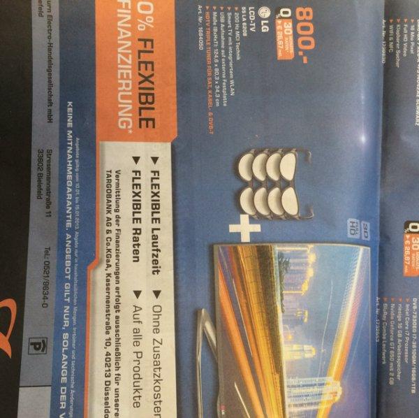 (Lokal BI) LG 55LA6208 für 800€ im Saturn Bielefeld - Idealo 895€