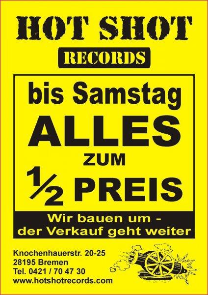 Platten, CDs DVDs ect. pp. Hot Shot Records Bremen, alles (!) zum halben Preis!