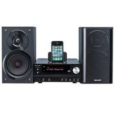 Sharp XLHF201PHBK HiFi Kompaktanlage mit iPhone/iPod Dock für 145€ @Redcoon