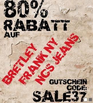 80% Rabatt bei Hoodboyz auf auserwählte Marken [bis 13.01.2014]