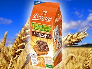 Brandt Frühstückszwieback (Schoko/Cerealien) GRATIS testen bis zum 31.03.2014 (Brandt Testwochen)