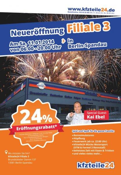 [Berlin] Kfzteile24 Neueröffnung mit 24% Rabatt auf alles am 11.01.