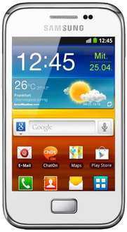 [AmazonWHD]  Samsung Galaxy Ace Plus S7500 Smartphone (3,7 Zoll), 5 Megapixel Kamera - chic-white