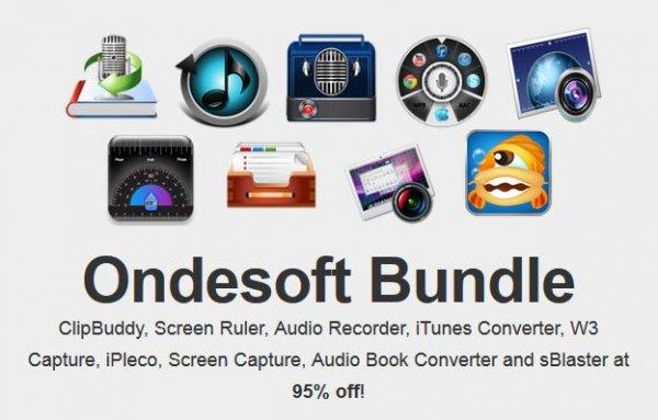 (MAC) Wieder da! Ondesoft Mac Bundle mit 9 Apps für nur 9,99$ bzw. 7,34€