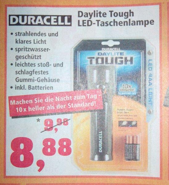 Duracell Daylite Tough - LED Taschenlampe + 4 x Mignon (AA) Batterien @Thomas Philipps (offline) 13.01.-18.01.14