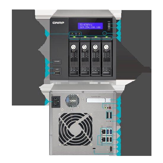 [Amazon.it] Qnap TS-470 PRO NAS-System 880,66€ - (4-Bay Diskless, 3,3GHz, SATA I/II, 3x USB 2.0, 2x USB 3.0, HDMI)