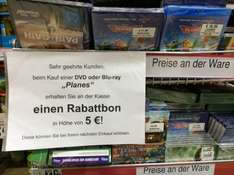 [Lokal Göttingen] Planes BluRay mit 5€ Warengutschein
