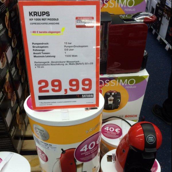 Krups KP 1006 Nescafé Dolce Gusto Piccollo 29,99€!!