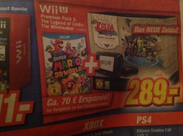 [Expert] Wii U Zelda Premium Pack inkl. Super Mario 3D World für 289 €