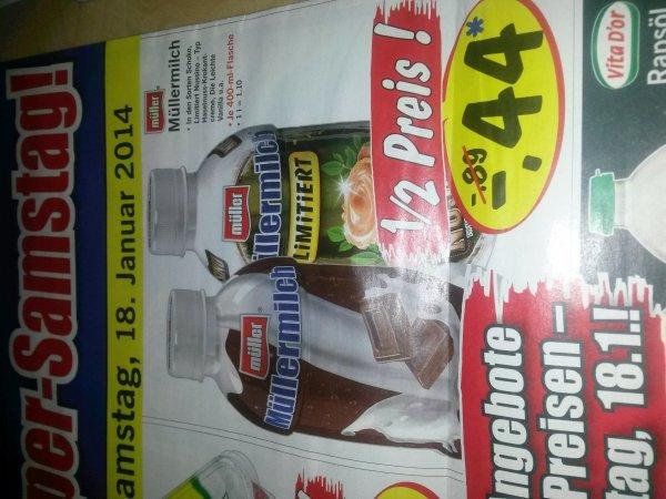 Müllermilch für -,44€ statt -,79€/-,89€ bei LIDL am 18.01.