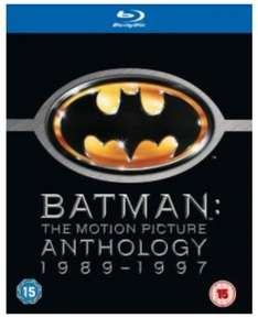 Batman Motion Picture Anthology 1989-1997 (4 Filme/Discs) Blu-ray Box für ~ 11,99 € inkl. Versand und deutschem Ton @ zavvi UK